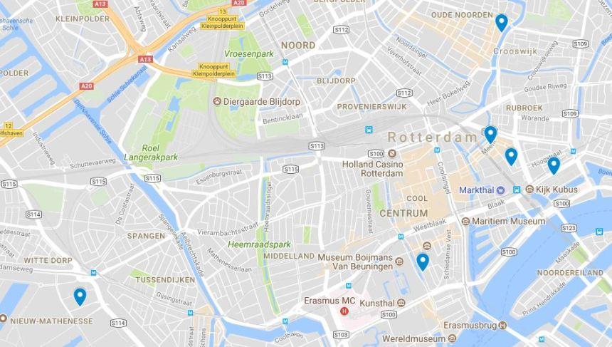 Rotterdam vintage retro tweedehands winkels