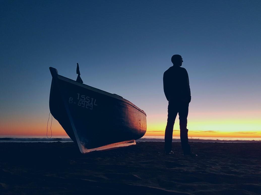 Agadir Marokko strand zonsondergang