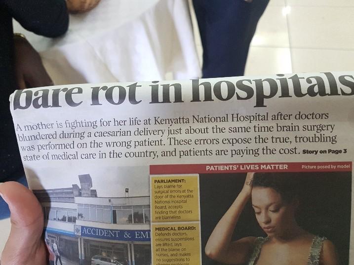 Krant artikel Kenia