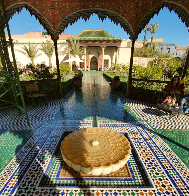 Tegeltjes Le Jardin Secret Marrakesh Marokko
