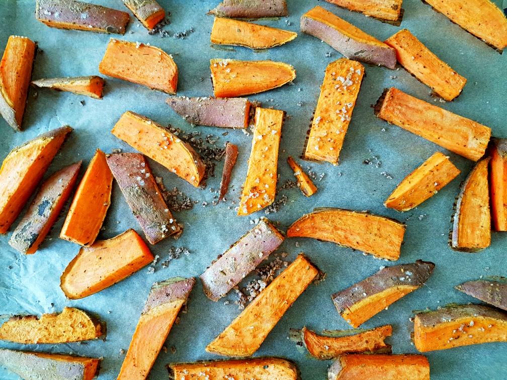 Zoete aardappel friet zelf maken