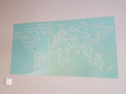 topmuurstickers sjabloon wereldkaart