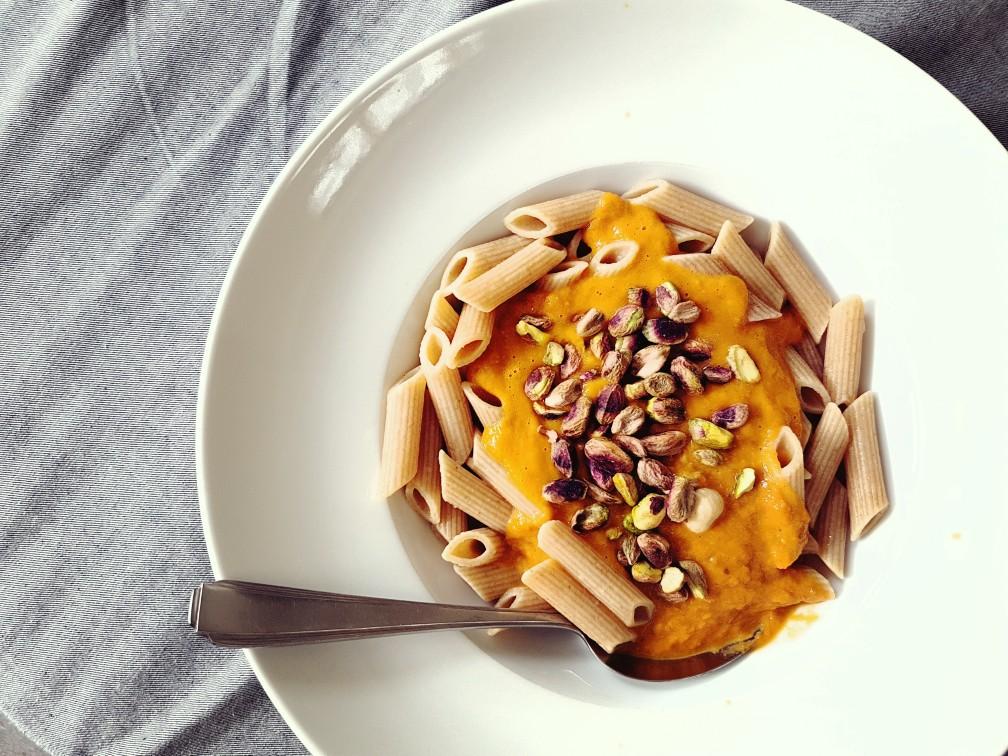 Vegetarische pastamaaltijd