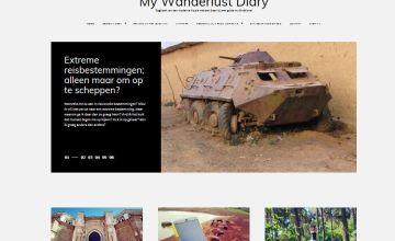 Veni Wordpress theme blog layout