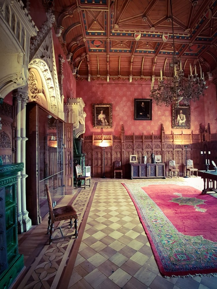 oude kamers in Burg Bentheim Duitsland