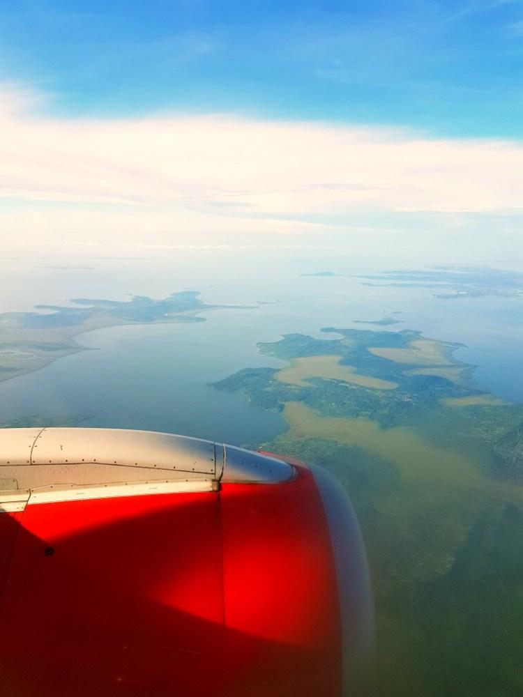 Lake Victoria Oeganda vanuit de lucht