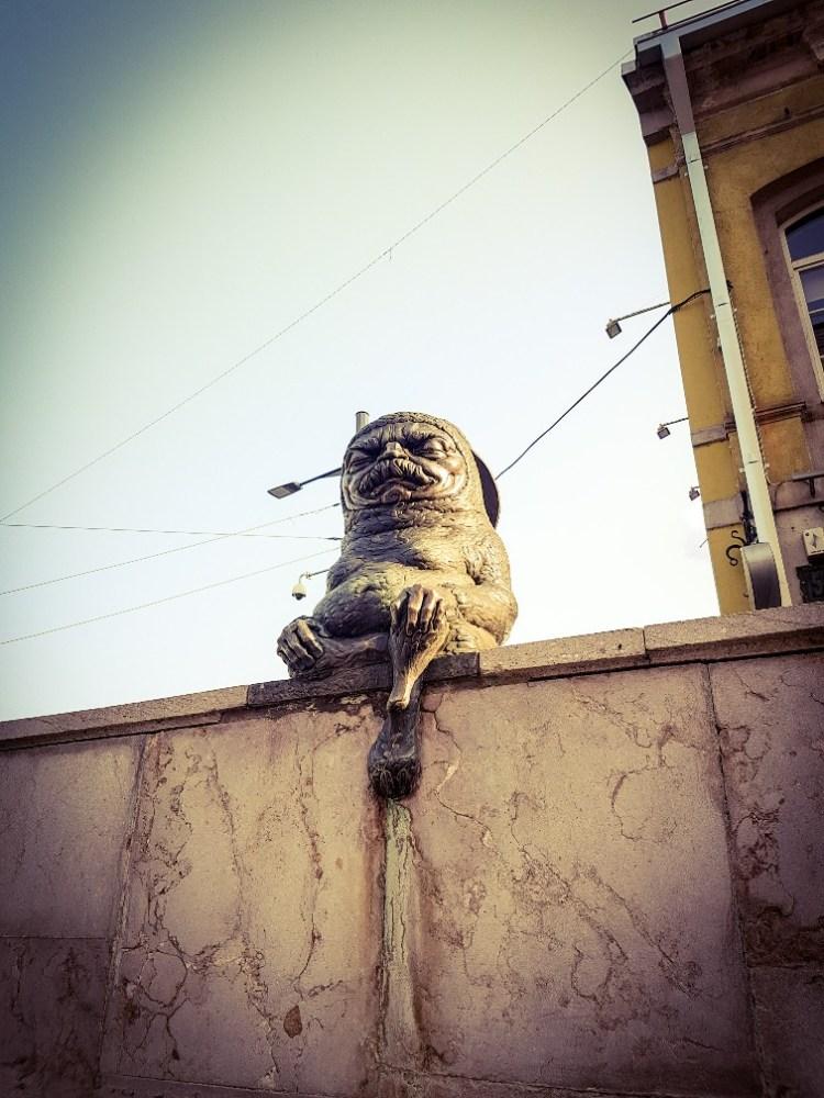Streetart beeldenkunst Kaunas Litouwen