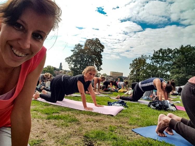 Yoga at the park Sonsbeekpark Arnhem