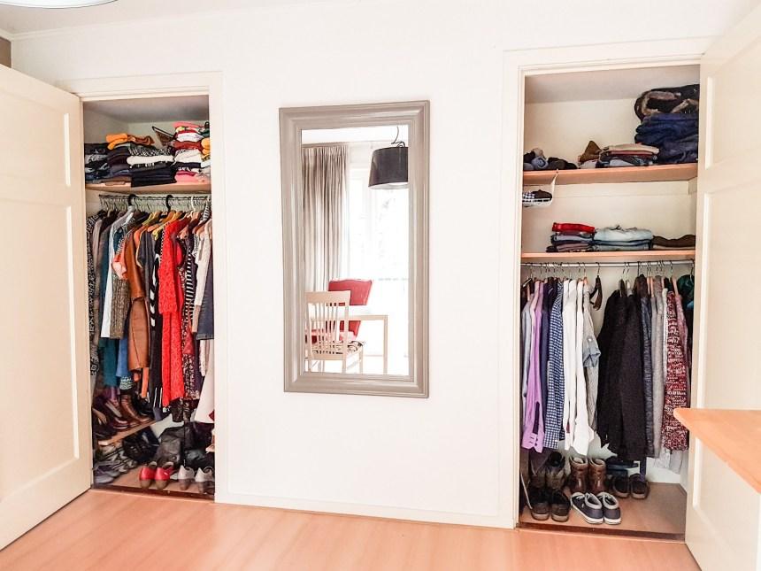 Marie Kondo stijl kledingkast opruimen