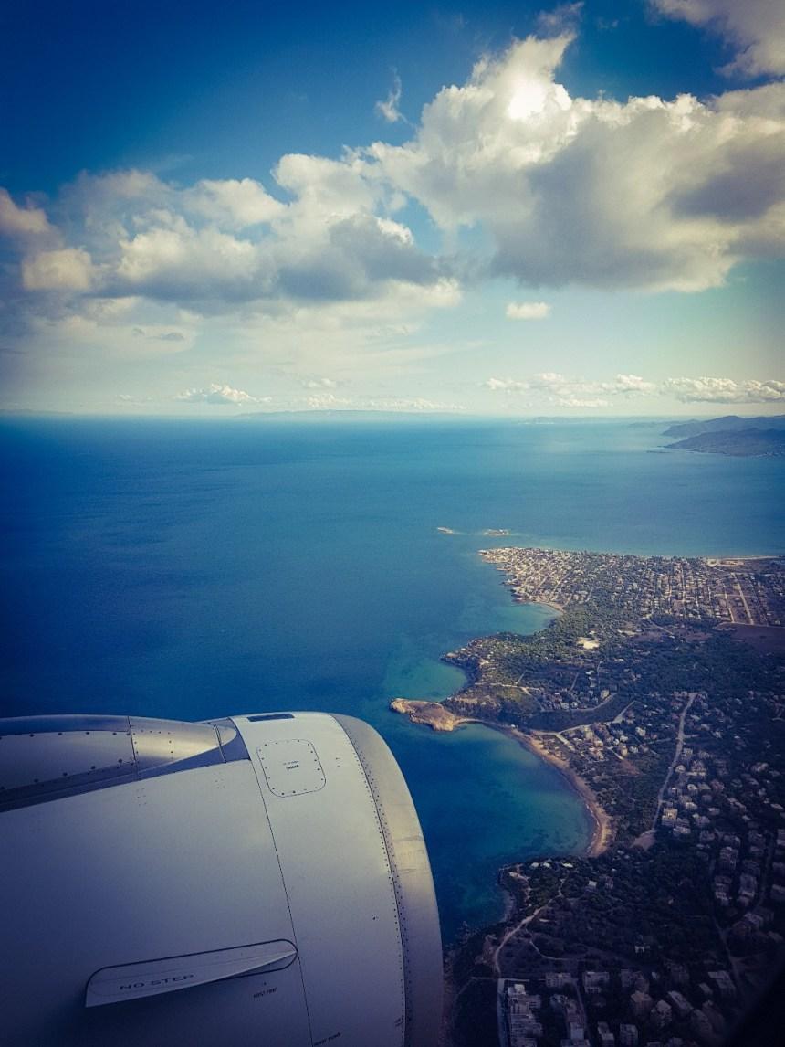 Athene vanuit de lucht Aegan Airlines