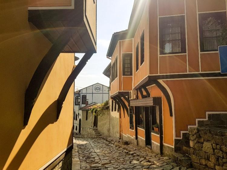 Oude stad Plovdiv Bulgarije