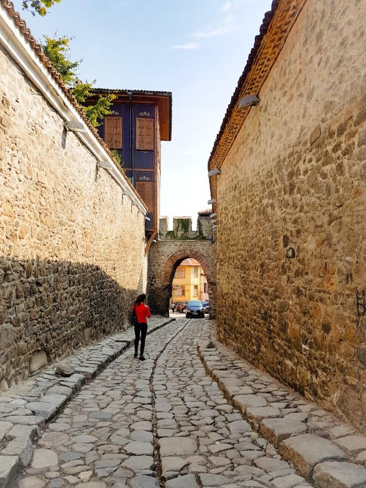 Hissar Kapiya Plovdiv Bulgarije stadsmuur klinkerweg