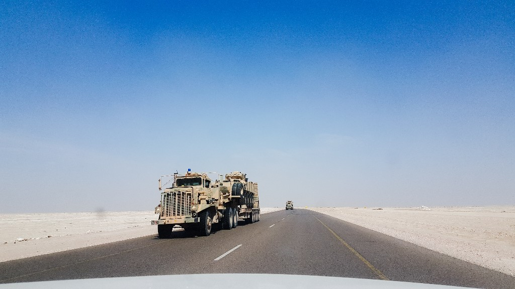 Militairen Empty quarter Oman