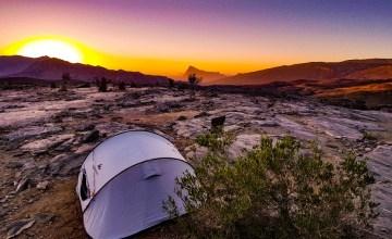 Jebel Shams wildkamperen bergen Oman