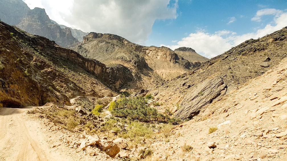 Wadi Bani Awf oase wadi Oman