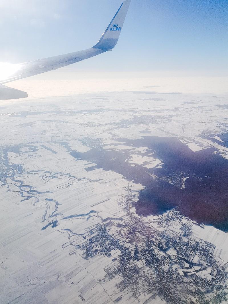 KLM Roemenië vanuit de lucht