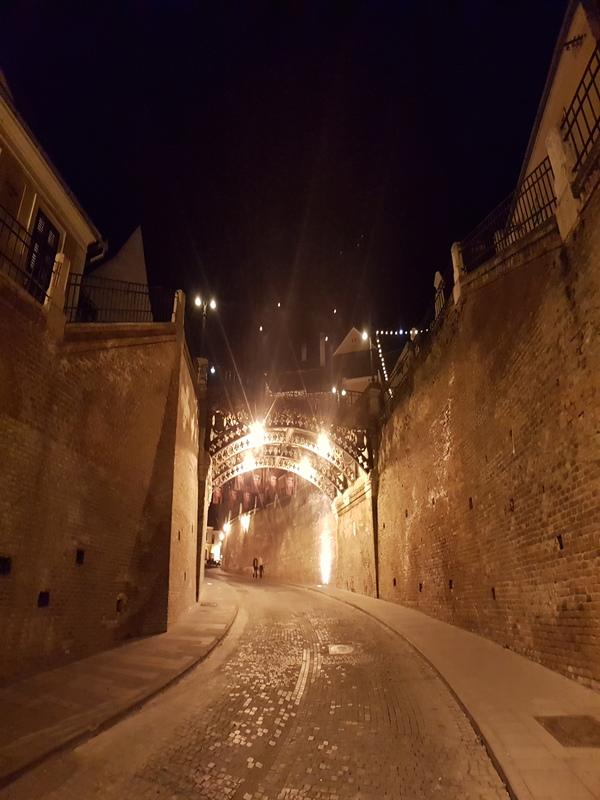Sibiu bij nacht Roemenië
