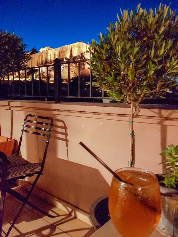 Byron Hotel Athene dakterras Akropolis Griekenland