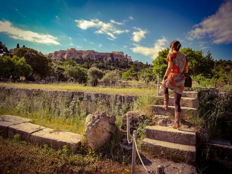 Oude Agora Akropolis Griekenland