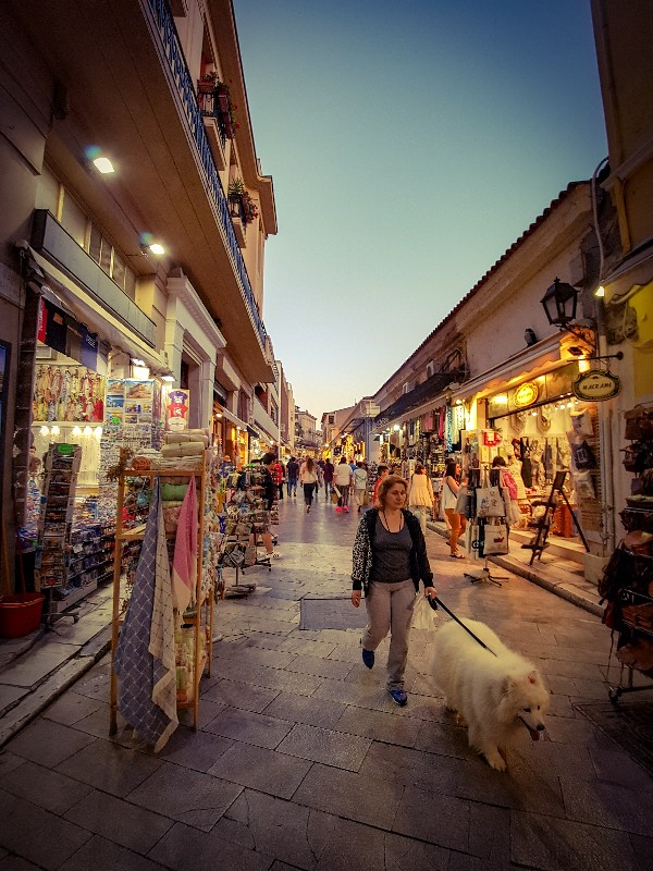 Monastiraki Plaka wijk Athene Griekenland
