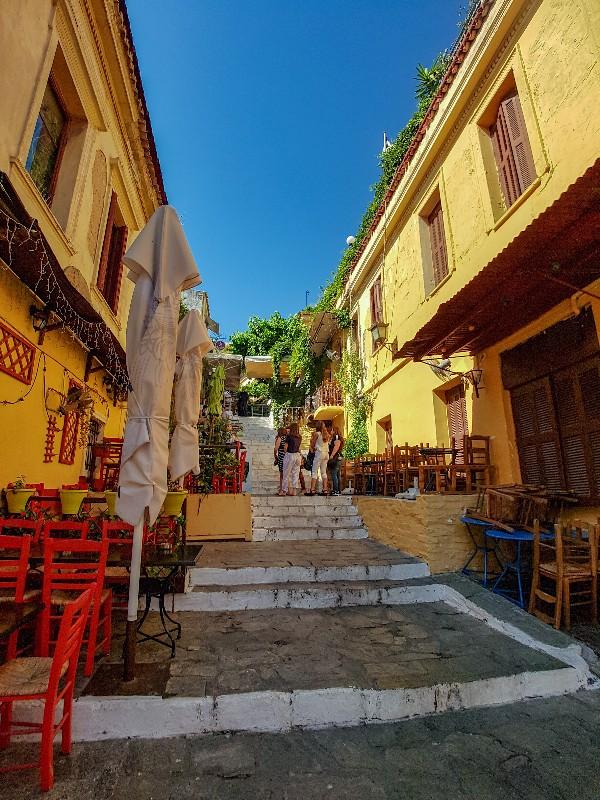 Plaka historische wijk Athene Griekenland