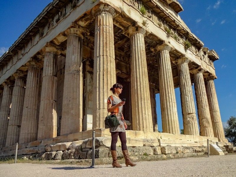 Oude Agora Tempel van Hephaestus Athene Griekenland