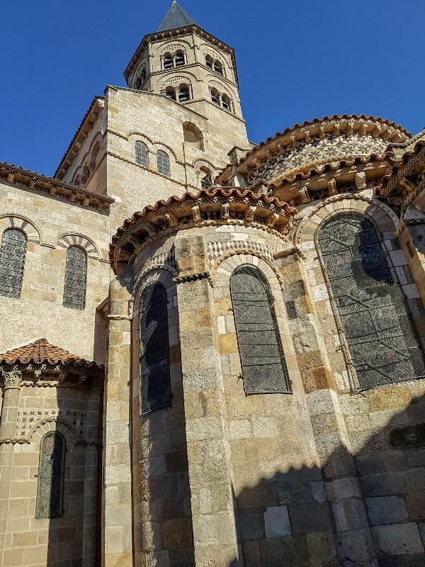Kerk Notre Dame du port Basiliek Clermont Ferrand Frankrijk