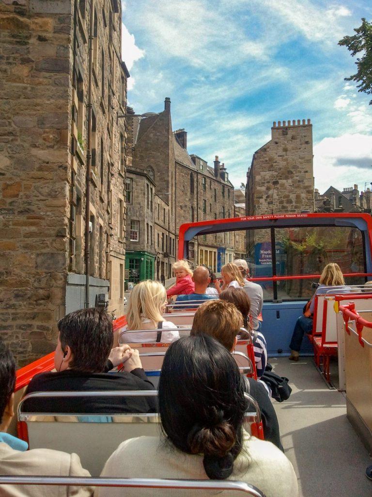 Hop on Hop off bus Edingburg Engeland Schotland