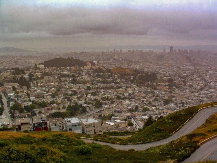 Twin Peaks uitzichtpunt San Francisco USA
