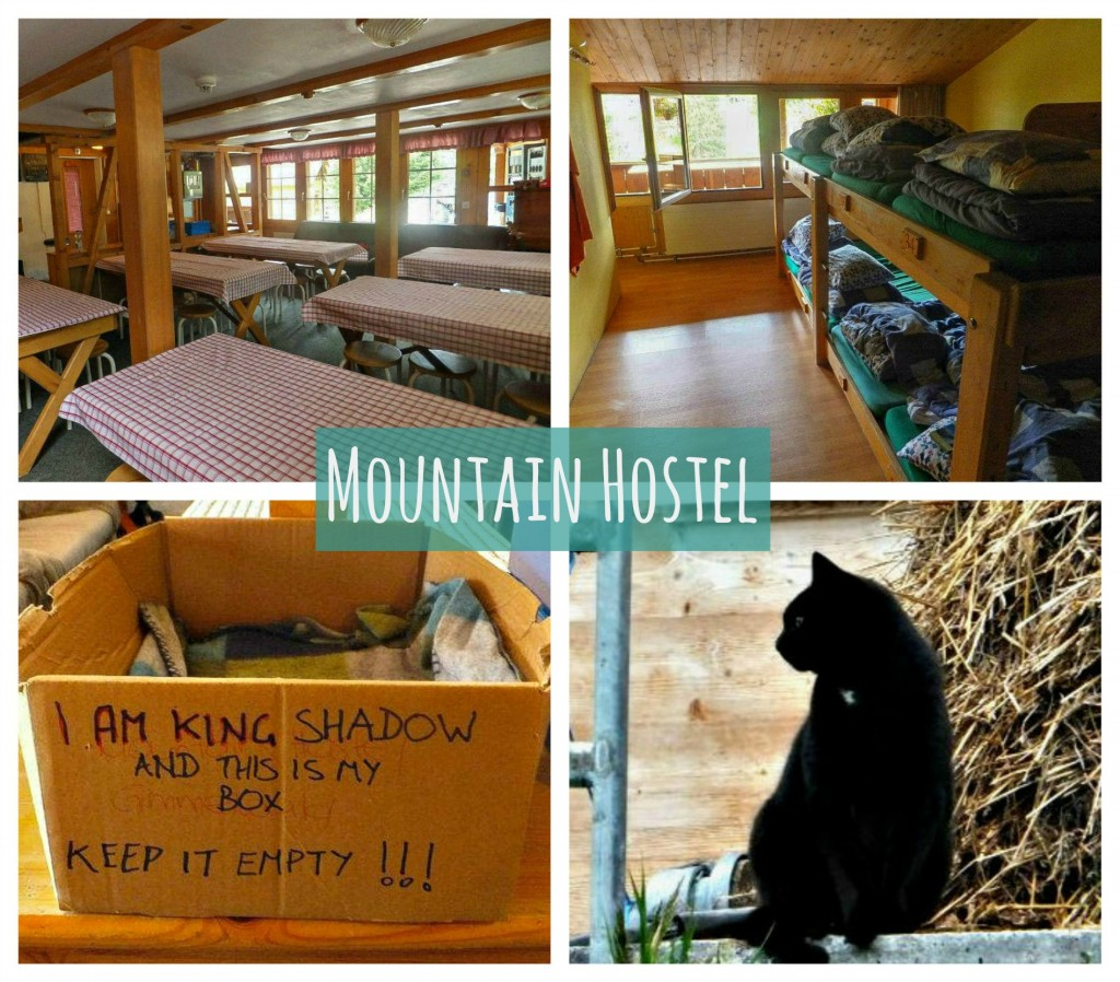 mountain hostel gimmelwald collage
