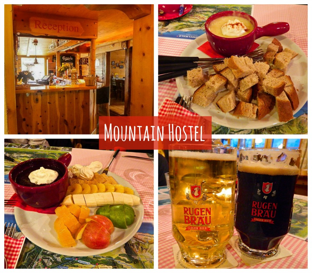 mountain hostel gimmelwald food