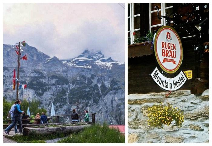 mountain hostel patio
