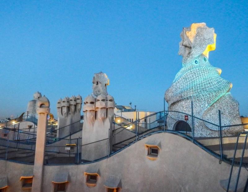 casa mila la pedrera origins rooftop barcelona gaudi