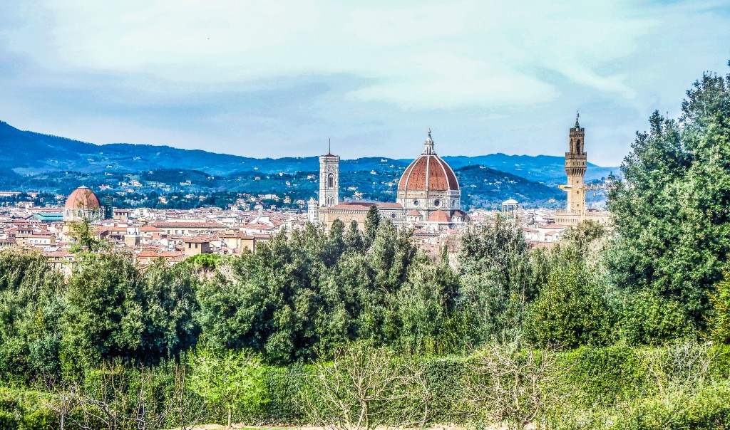 florence italy view from boboli gardens