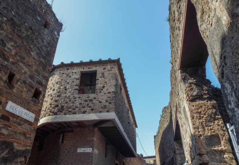 The ruins and brothel of Pompeii in southern Italy