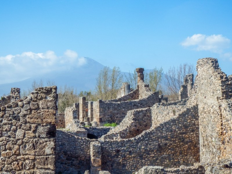 The ruins of Pompeii in southern Italy