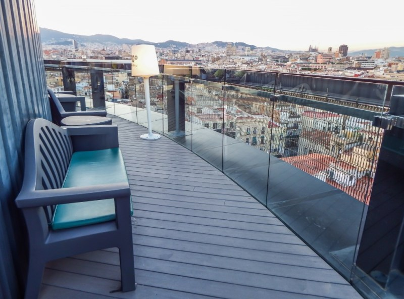 360° rooftop of the Barcelo Raval hotel in Barcelona, Spain