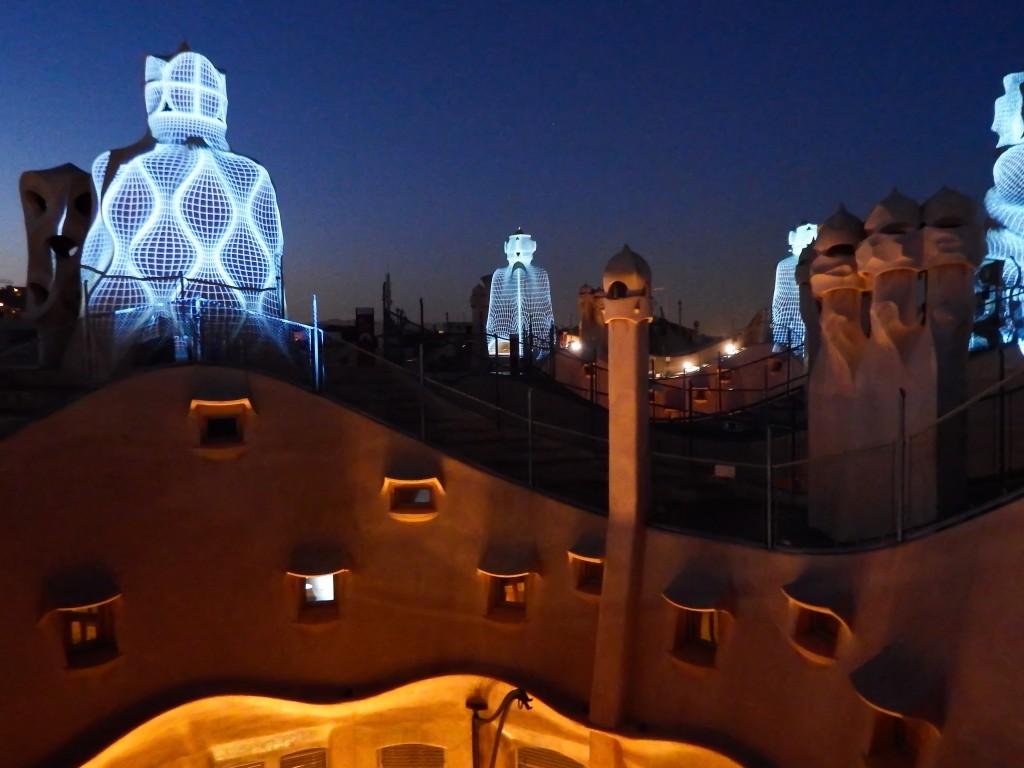 The rooftop of Antoni Gaudí's Casa Mila during La Pedrera: The Origins in Barcelona, Spain