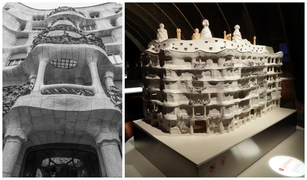 Antoni Gaudí's Casa Mila (aka La Pedrera) in Barcelona, Spain