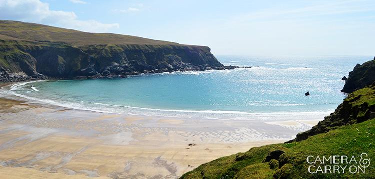 Turquoise beach seen while exploring ireland