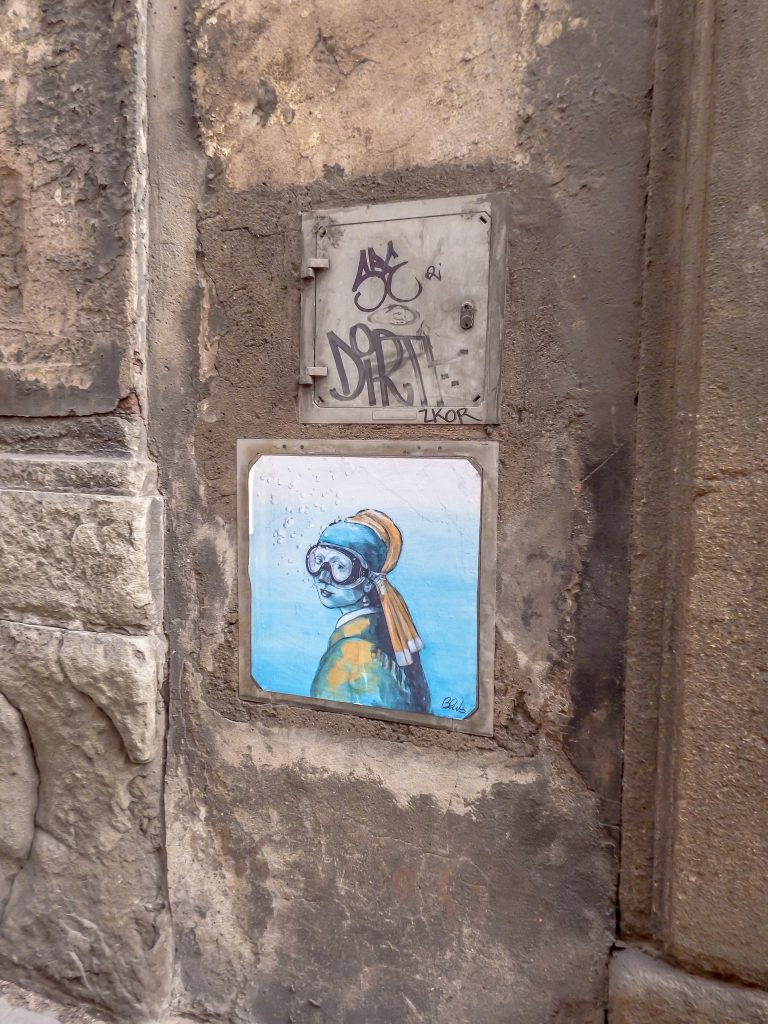 Checking out street art during 2 days in Florence, Italy