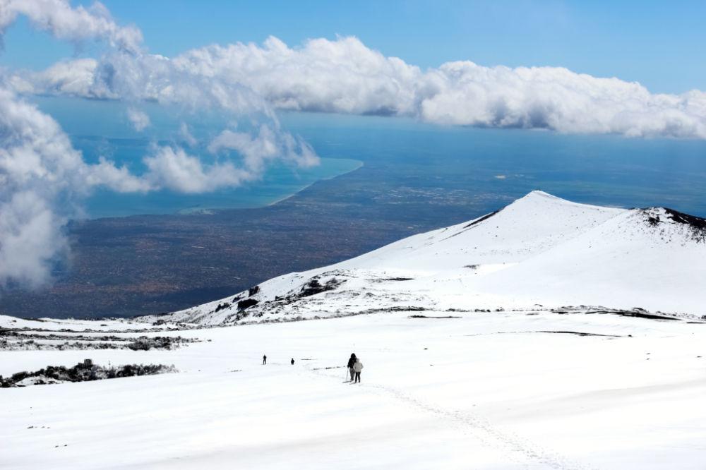 Etna, výhled na moře