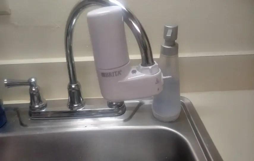 brita faucet filter s milky water