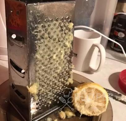 лимон натераем на терке
