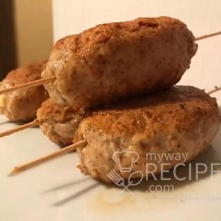 куриный кебаб с сыром
