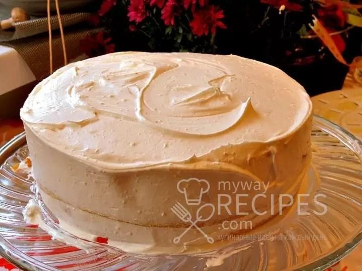Бисквитный торт с кремом маскарпоне