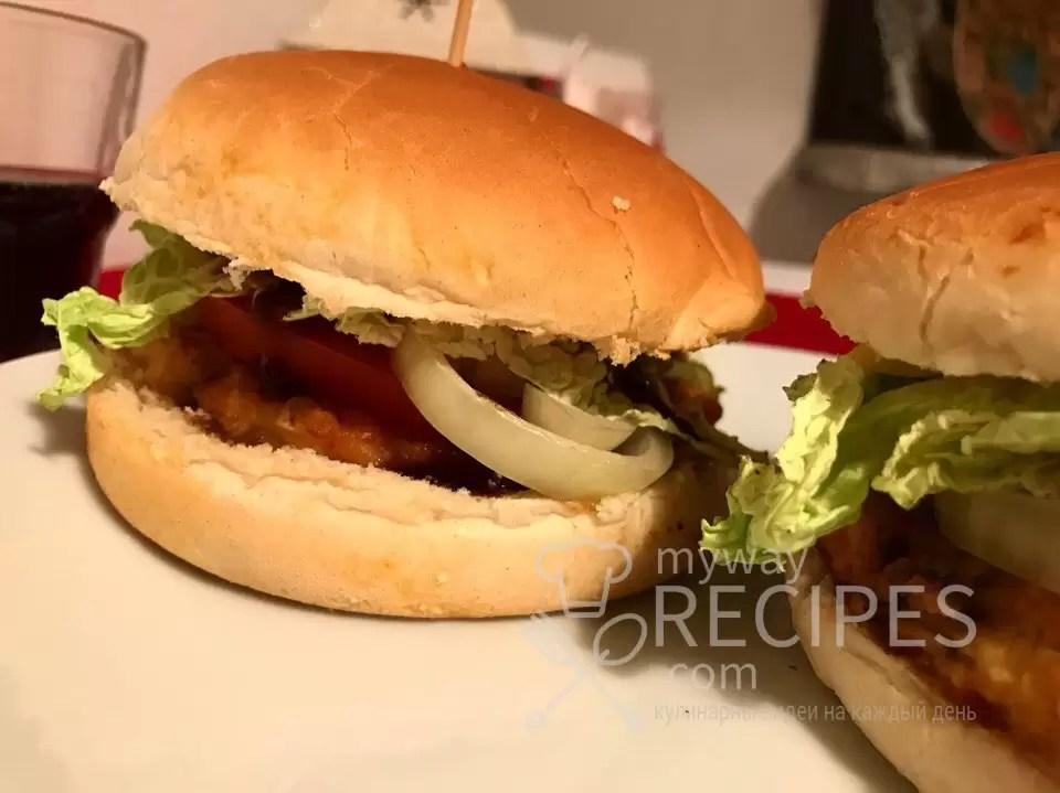 Домашние бургеры с курицей
