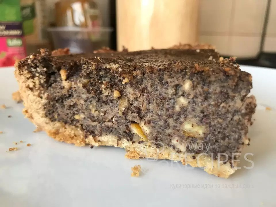 Тарт с маком и шоколадом