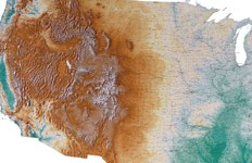 HD Decor Images » Large map of the USA showing natural features map map