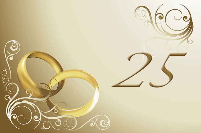 25th Year Wedding Anniversary Gifts And Ideas